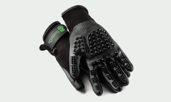 HandsOn Pet Grooming Gloves - Patented #1 Ranked